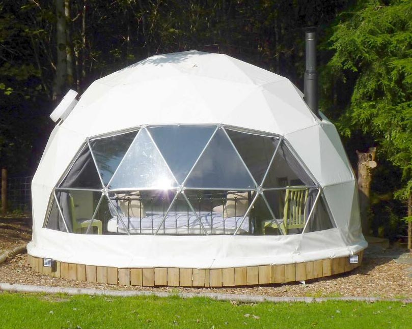 Geodesic Dome Tent With Fireplace And Fan