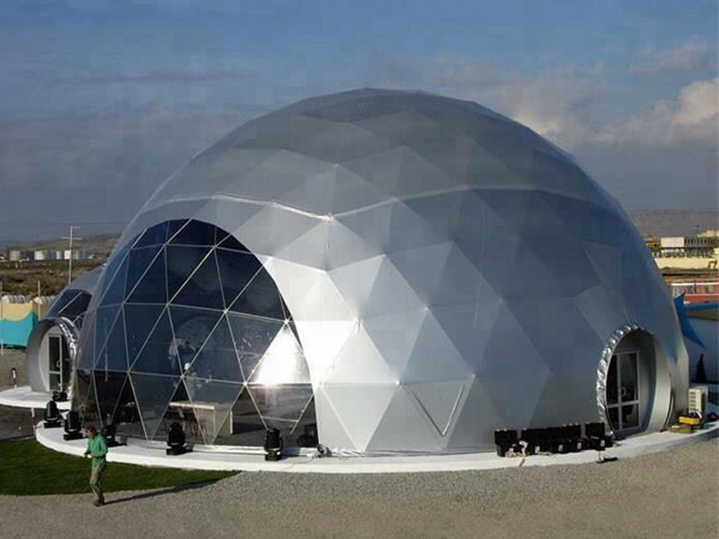 Geodesic Dome Tent With Silver Colour