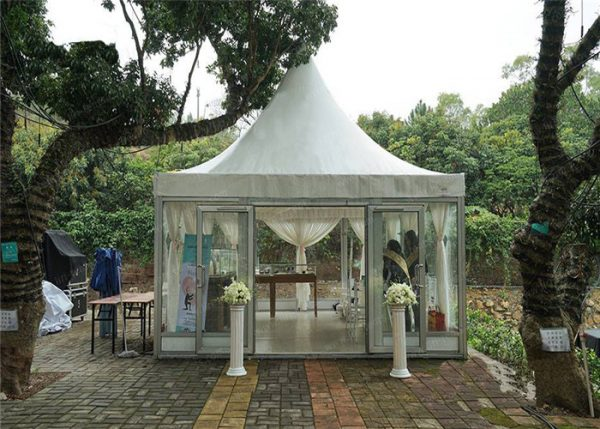 Economical Church Canopy 5 5m Pagoda Tent With Glass Walls