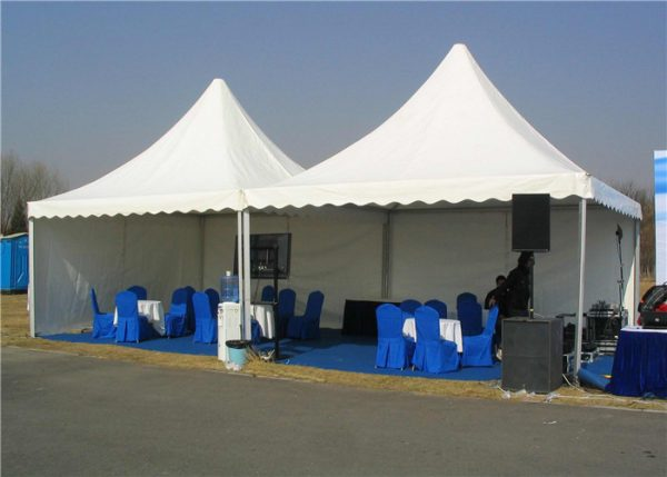 Aluminum Pagoda Tent 3x3m 5x5m Small Party Tent For Trade
