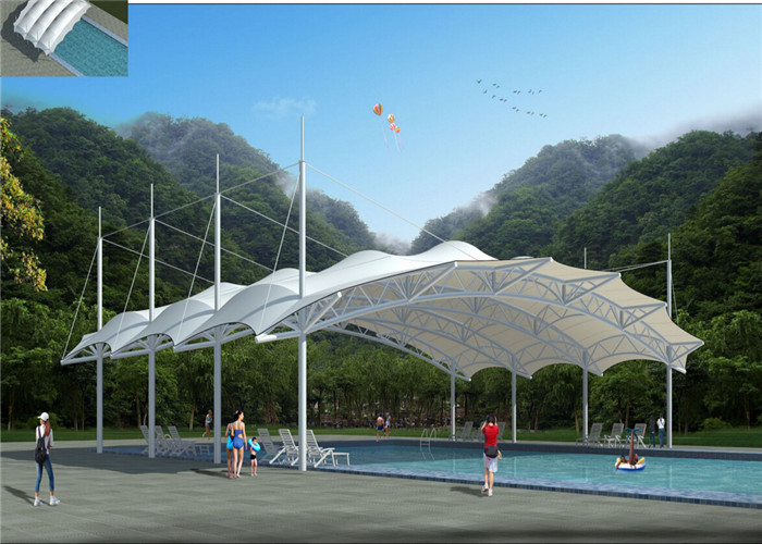 Sun Shade Structures Swimming Pool Canopy Architecture For Shelter ...