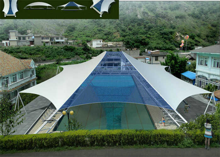 Triangle Swimming Pool Tents With PVDF Cover Steel Frame For ...