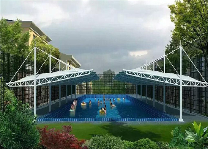 Sun shade structures swimming pool canopy architecture for for Sun shade structure