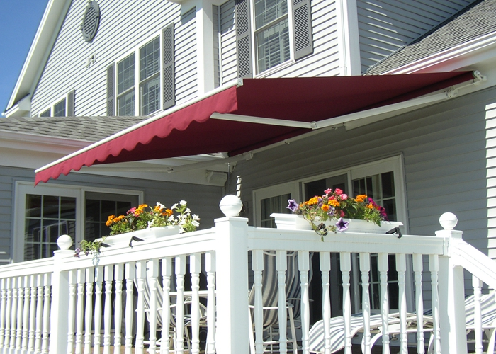 Aluminum Retractable Awnings Semi Cassette Type With Light