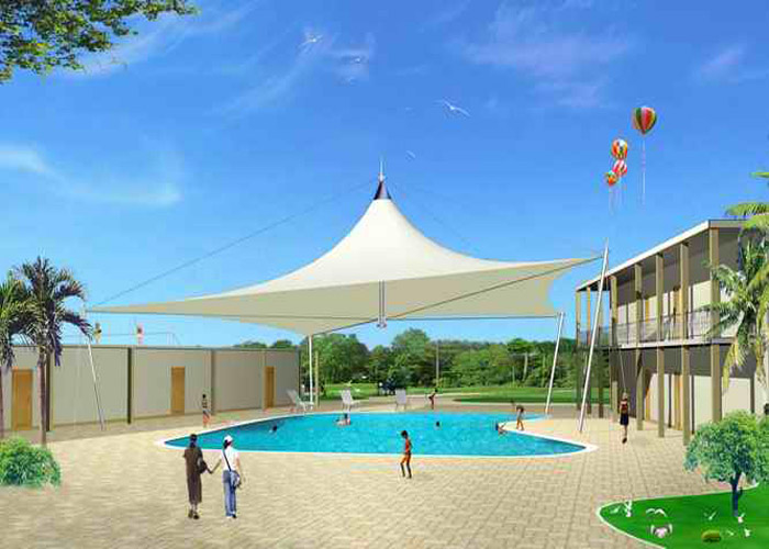 Outdoor Awning For Swimming Pool High Peak Shape Best