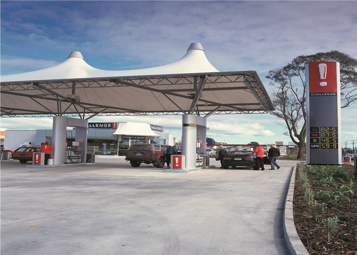 Permanent Outdoor Structure Shelter : Outdoor permanent toll station tensile membrane structure