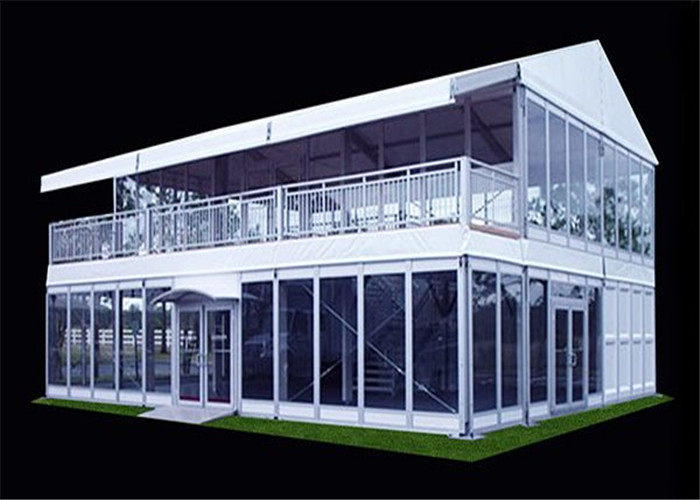 2017 lastest aluminum two floor tent with glass wall for Wall tent floor