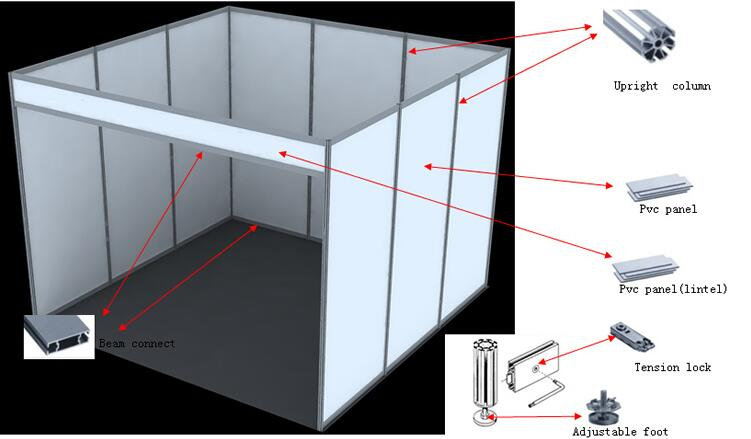 Exhibition Stall Panel Size : Portable aluminium stall shell scheme exhibition event