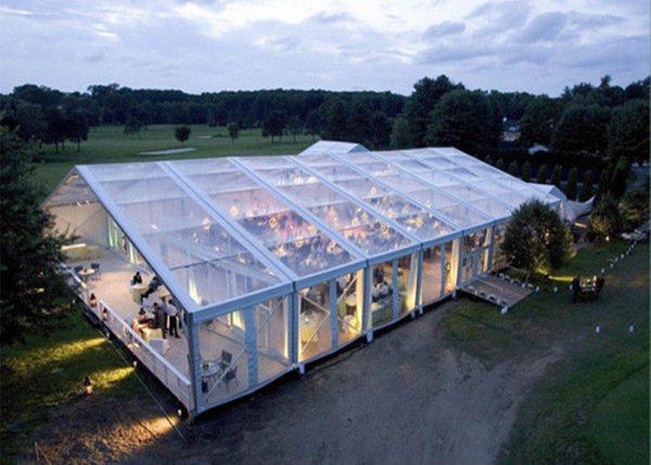 250people 15x25m Plastic Transparent Party Tents Clear Pvc