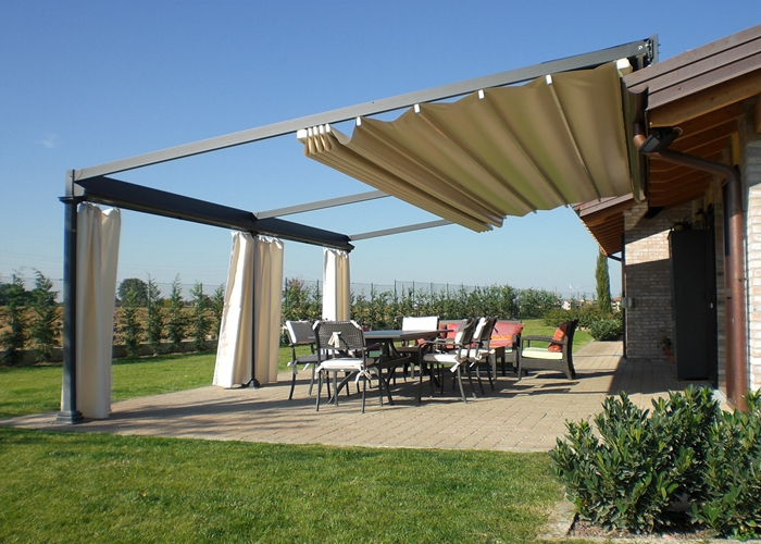 Retractable Pvc Roof Pergola For Garden Use Tent Truss