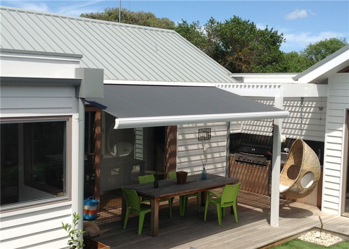 Large slide out electric metal roof retractable awning ...