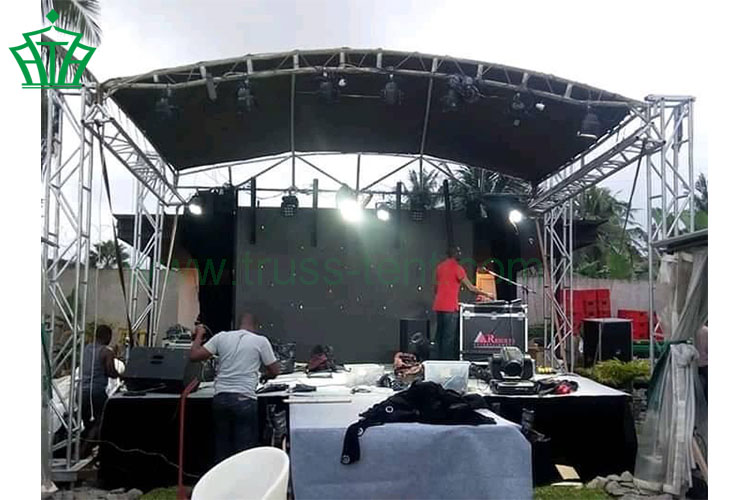 Small Curve Truss For Event Led Lighting Trussdisplay With