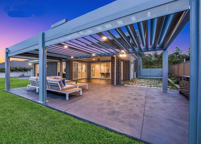 Waterproof Louver Roof System Kits Outdoor Gazebo Garden Bioclimatic Aluminium Pergola