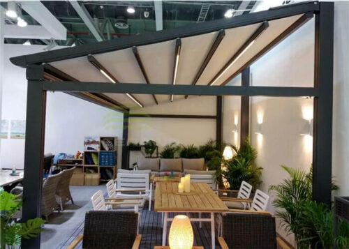 Electric Motorized Retractable Pergola Awning for Patio