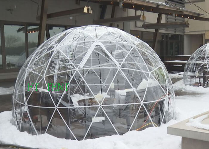 China 4m Clear Restaurant Coffee Tent in Winter