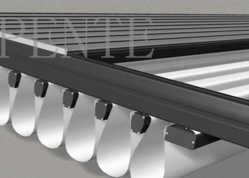 DIY Kitset Manual Opening Waterproof Sunshading Louvred Pergola Aluminum With Handle Crank