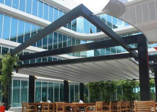 AlunoTec Customized Waterproof Louvered Roof Motorized Aluminium Pergola Arches Arbours Pergolas